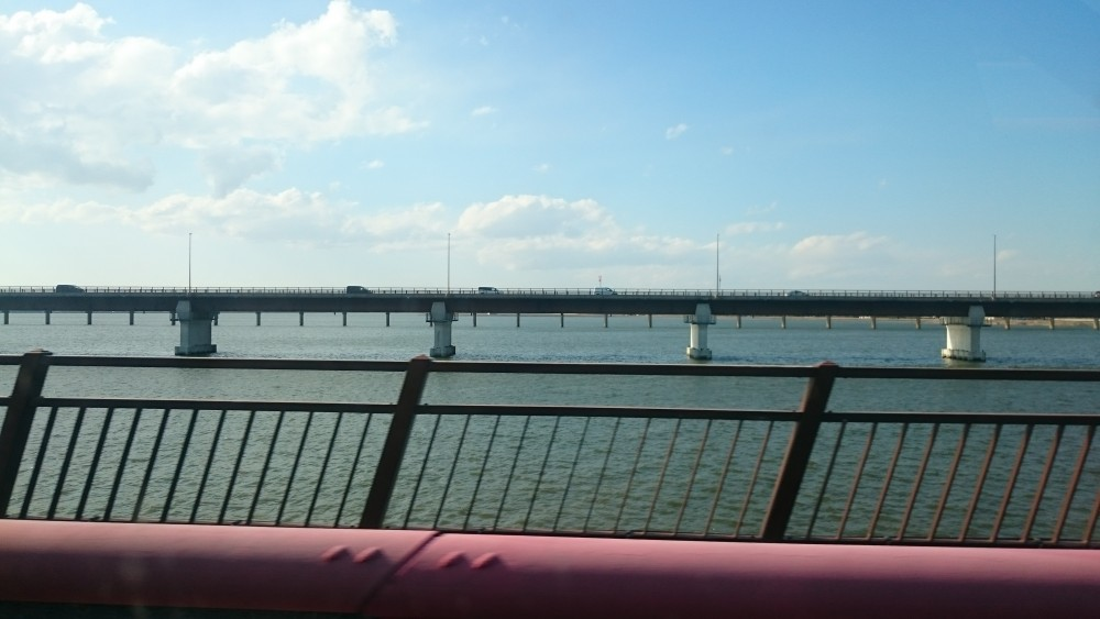 鹿島スタジアムへの道